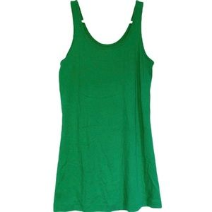 Old Navy Vibrant Green U-Neck Tank Top Camisole M